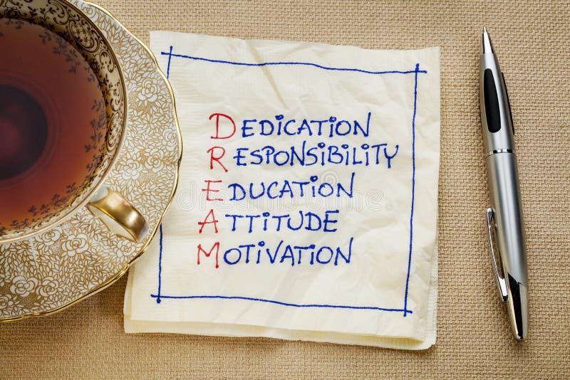 Dedykacja, odpowiedzialność, edukacja zdjęcia royalty free