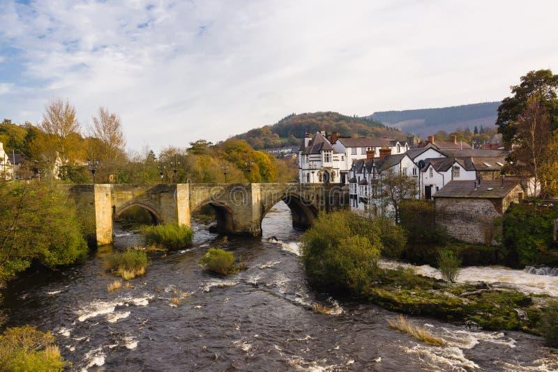 Dee Bridge Llangollen stockfoto