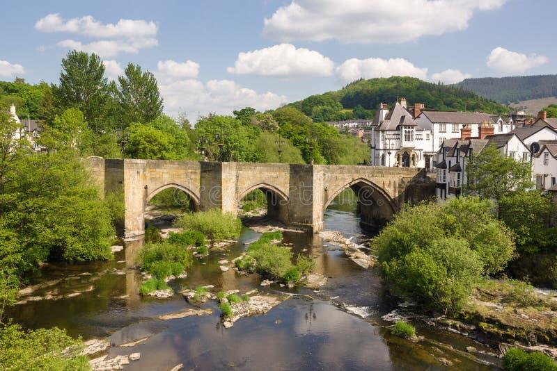 Dee Bridge Llangollen lizenzfreie stockfotos