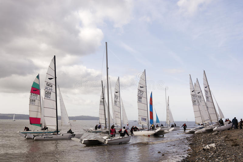 Dee Sailing Club lizenzfreie stockbilder