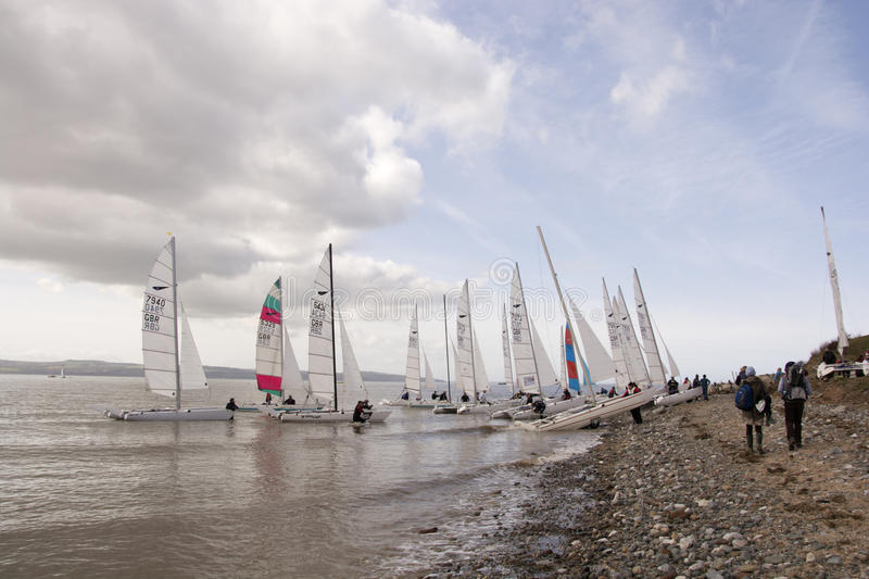 Dee Sailing Club stockfoto
