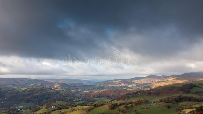 Dee Valley, Wales stockbilder