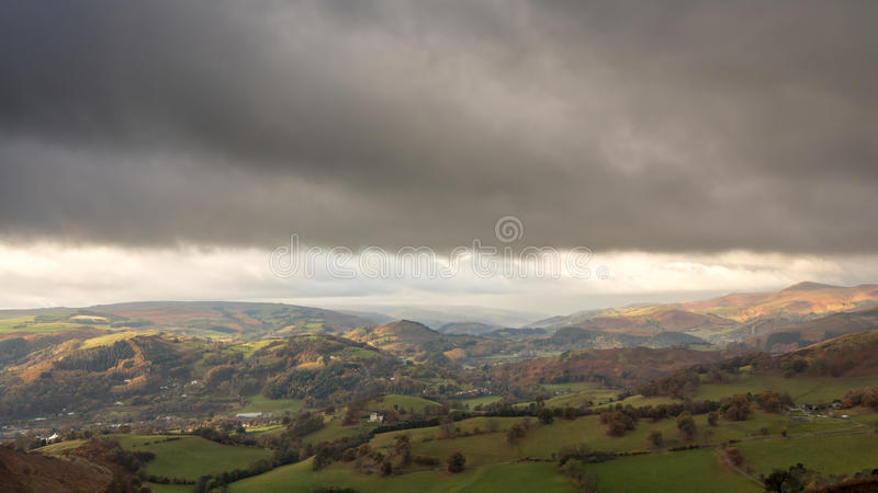 Dee Valley, Wales lizenzfreie stockbilder