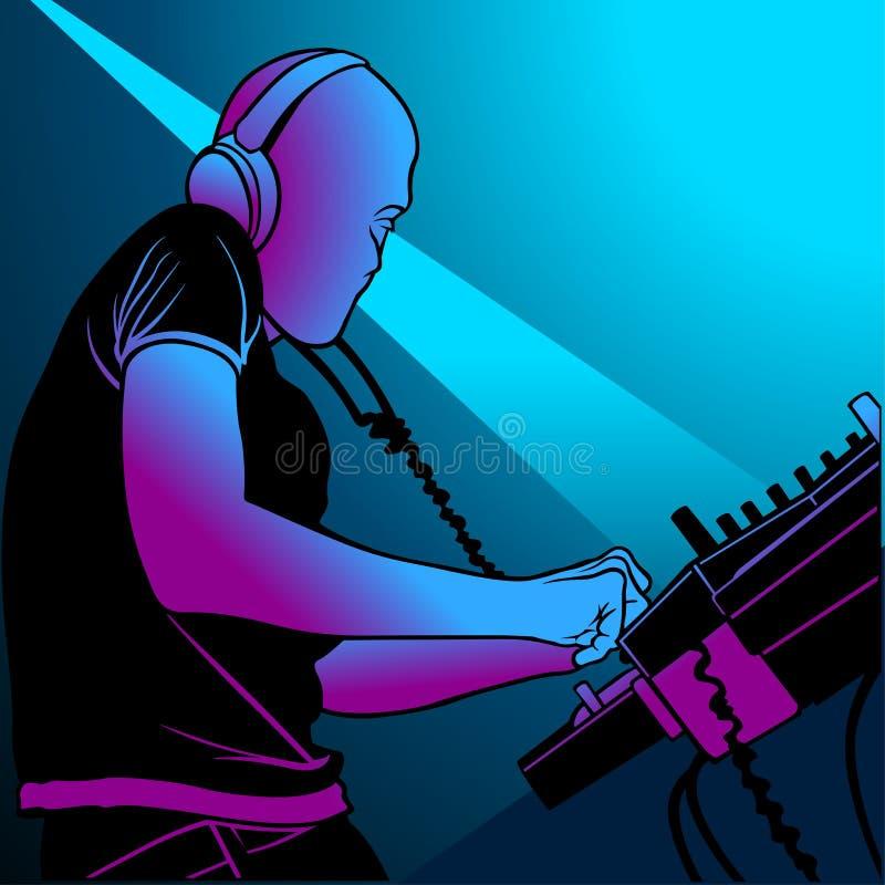 deejay 02 stock illustrationer