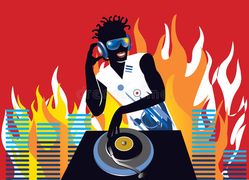 Deejay vector illustratie