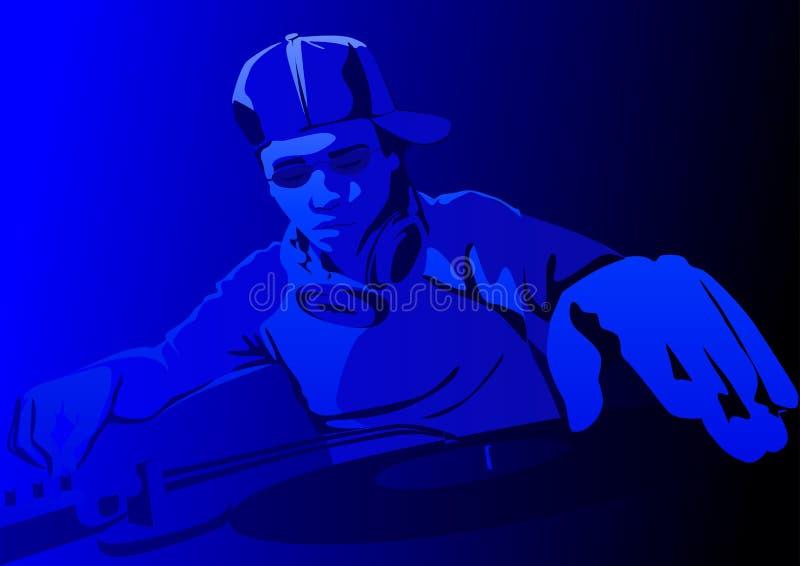 Download Deejay del randello illustrazione vettoriale. Illustrazione di grunge - 3883368