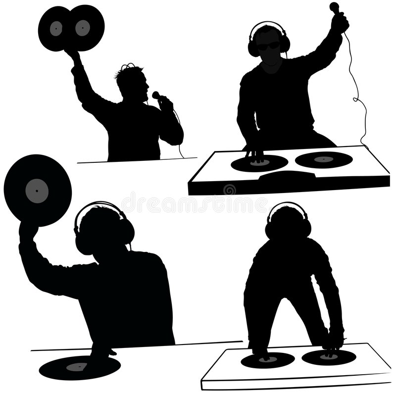 Free Deejay Silhouettes Royalty Free Stock Images - 2074519