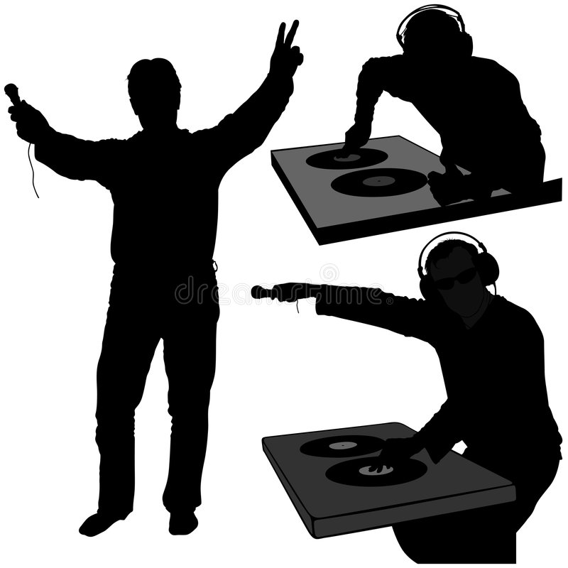 Free Deejay Silhouettes Stock Photography - 2074522