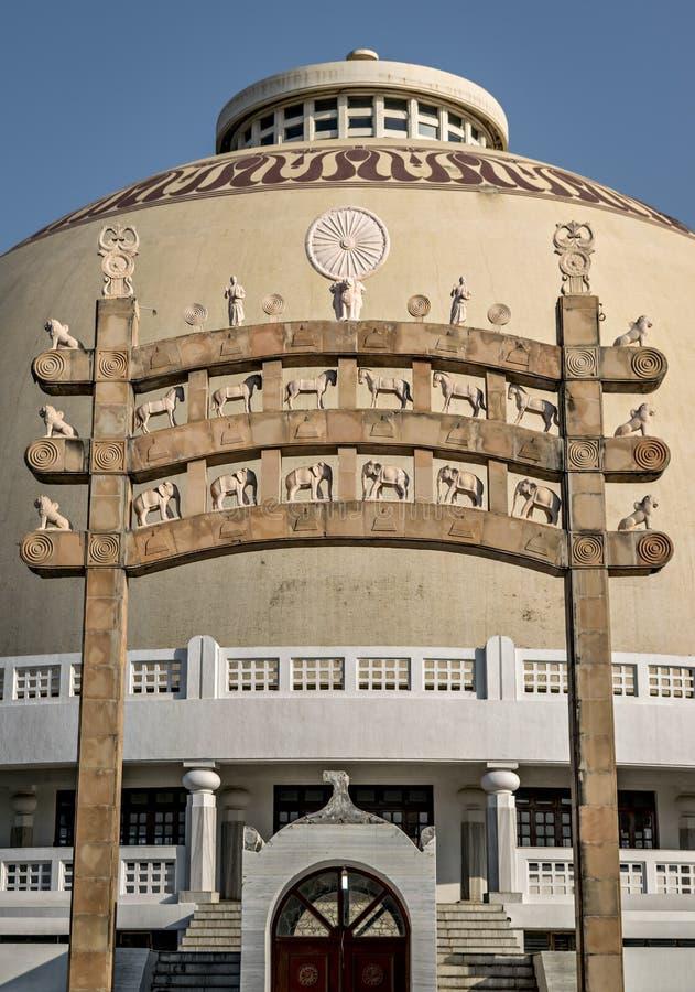 Deekshabhoomi门在那格普尔,印度 免版税库存图片