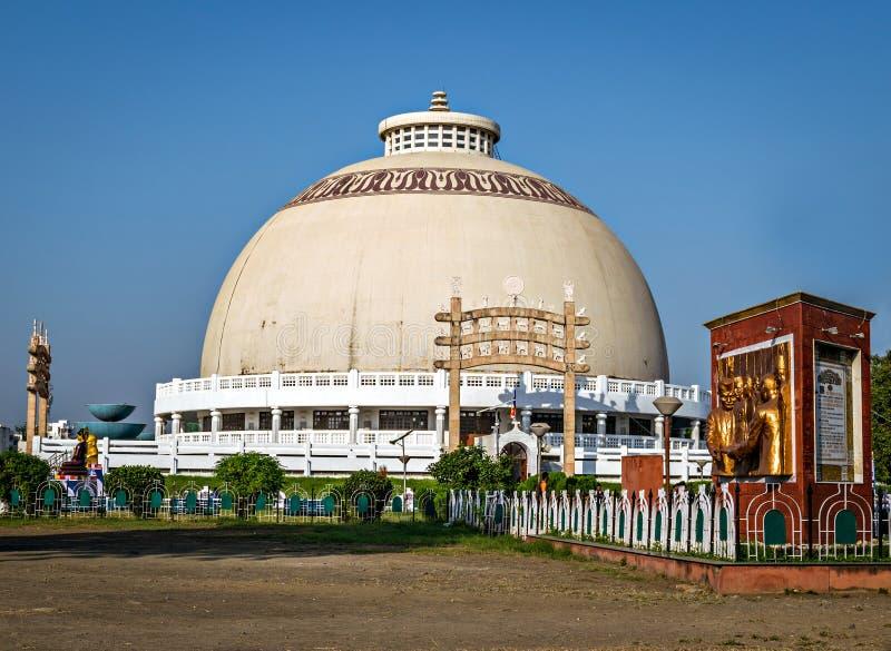 Deekshabhoomi i Nagpur, Indien fotografering för bildbyråer