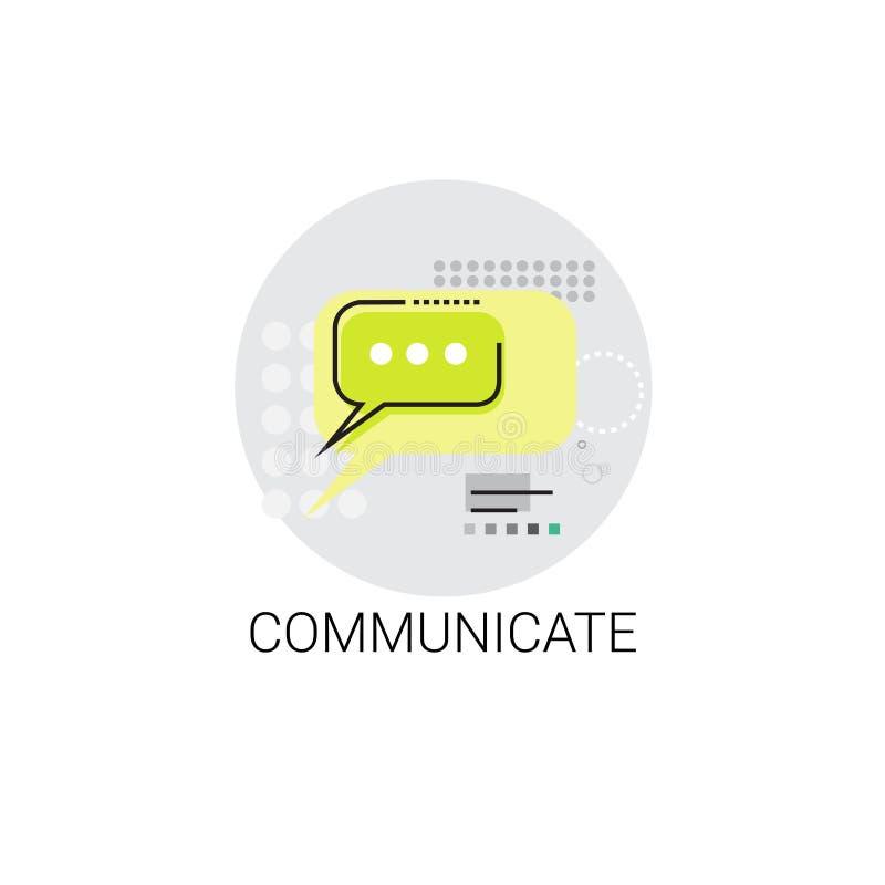 Deel Communicatie van het Praatje Sociaal Netwerk Berichtpictogram mee stock illustratie