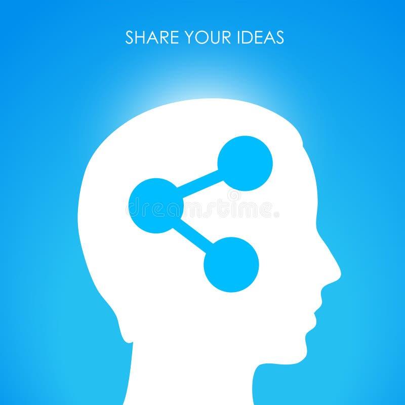 Deel uw ideeën vector illustratie