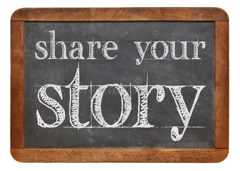 Deel uw verhaal stock afbeelding