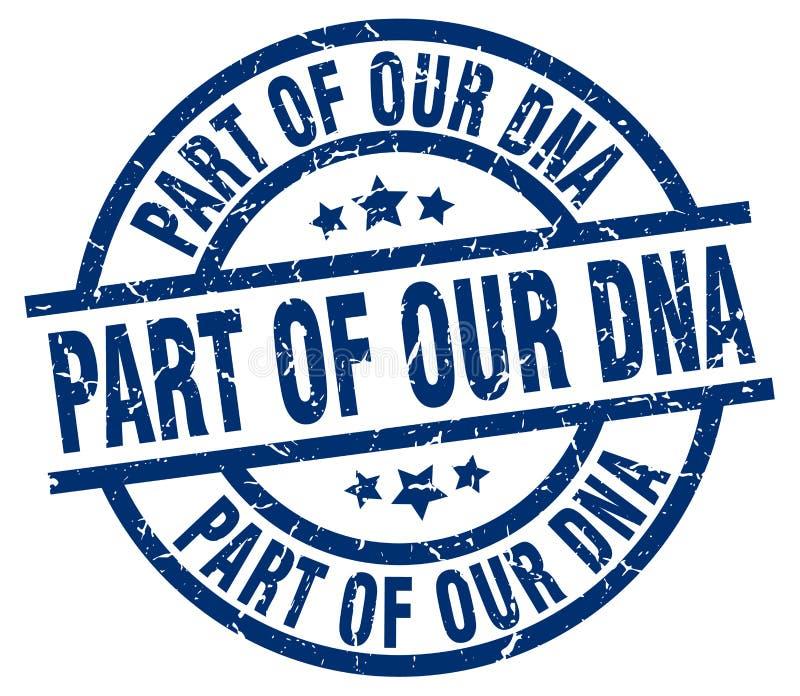 deel van onze DNA-zegel stock illustratie