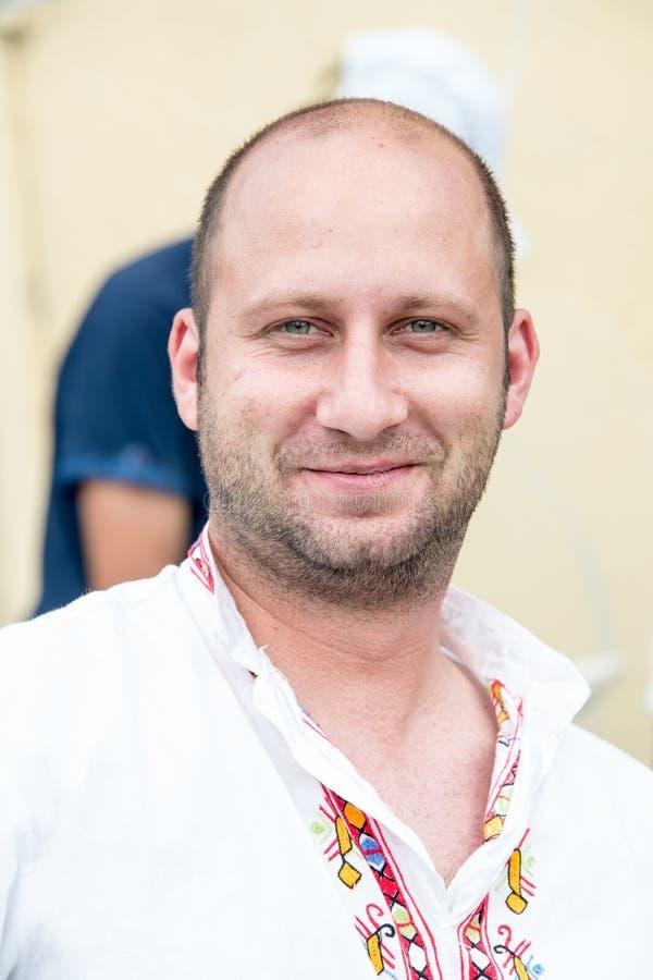 Deelnemer van de Nestenar-Spelen, Bulgarije stock foto