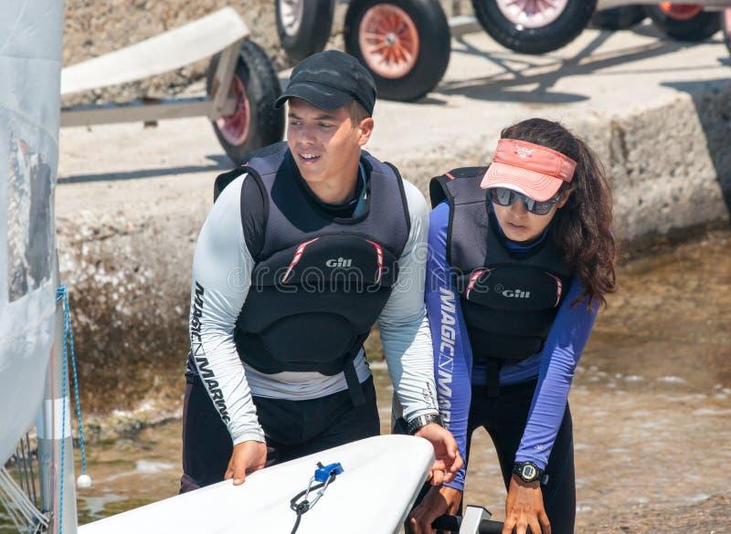 Deelnemers het Bulgaarse kampioenschap varen royalty-vrije stock foto
