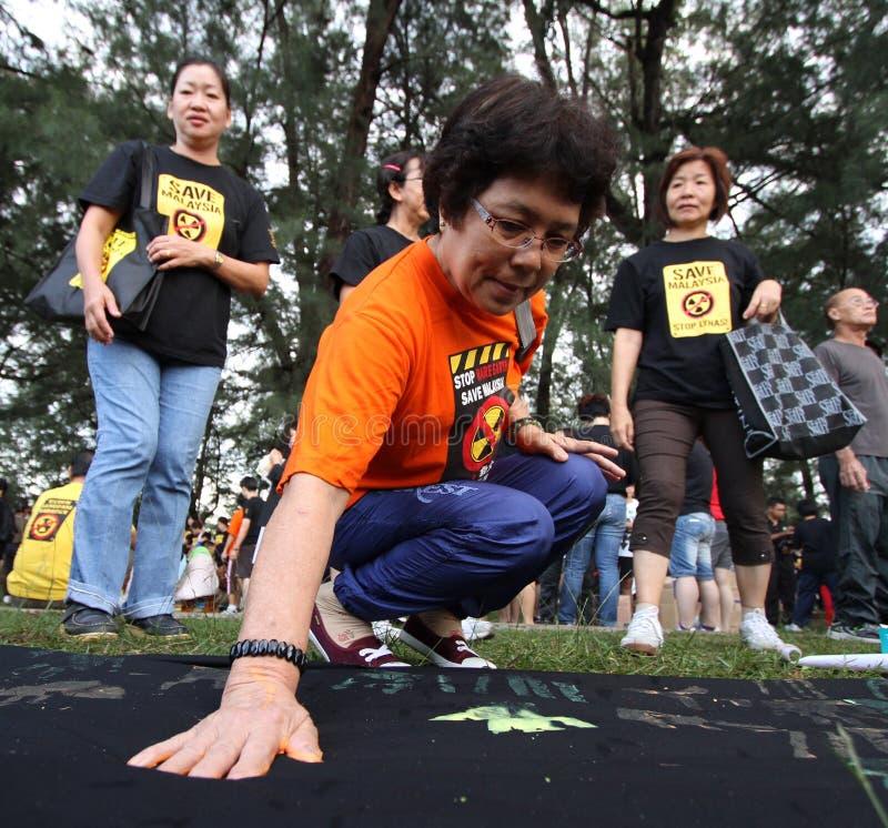 Deelnemers van de Groene Assemblage stock foto's
