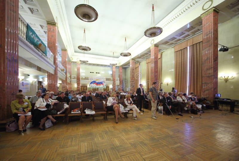 Deelnemers van Eerste Federaal Congres over e-democratie stock fotografie