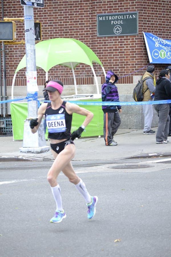 Deena Kastor elita biegacza NYC maraton obrazy stock