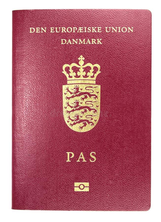 Deens paspoort royalty-vrije stock afbeeldingen