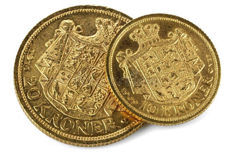 Deense gouden muntstukken royalty-vrije stock afbeelding