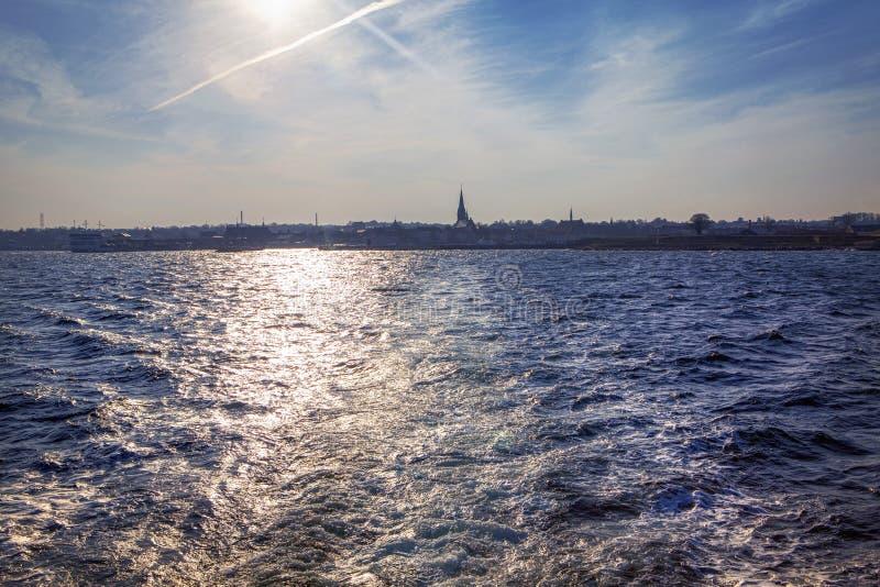 Deense kust royalty-vrije stock fotografie