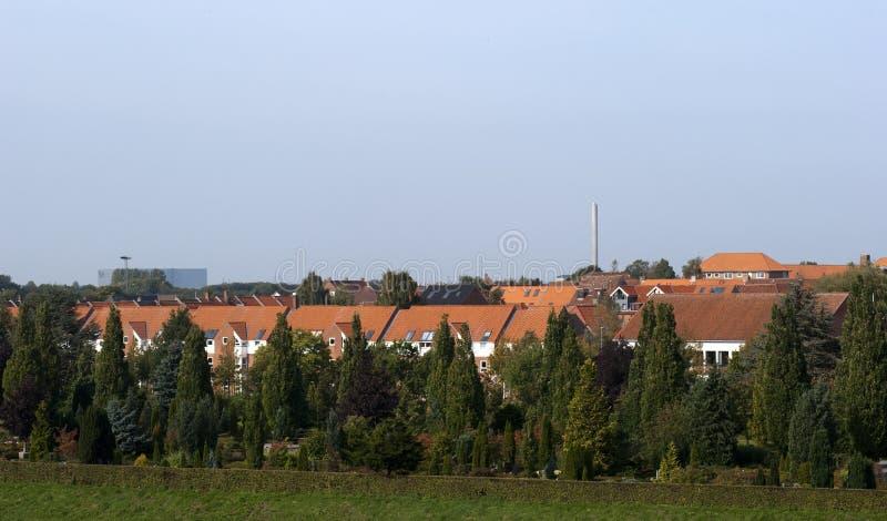 Deense stad Fredericia royalty-vrije stock afbeelding