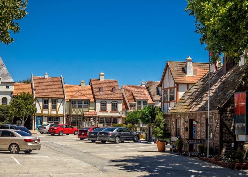 Deense stad van Solvang in Californië stock foto's