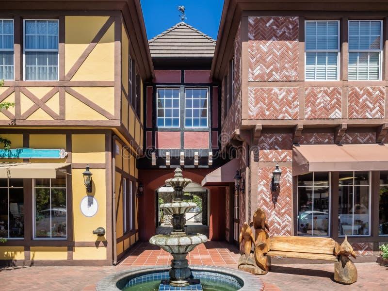 Deense stad van Solvang in Californië stock afbeelding