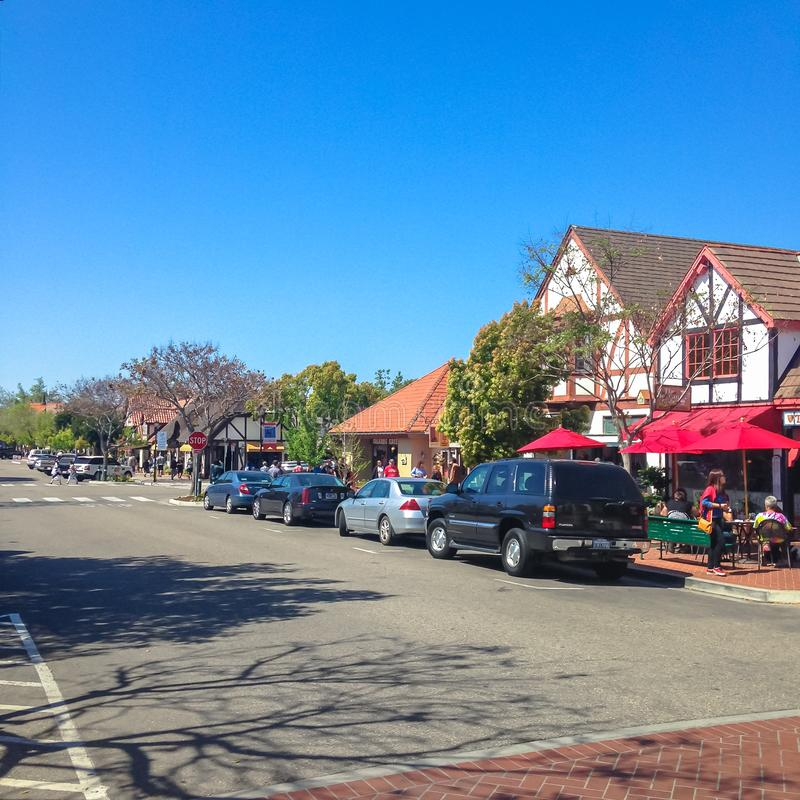 Deense stad van Solvang in Santa Ynes, Californië De V.S. De lente van 2015 royalty-vrije stock foto