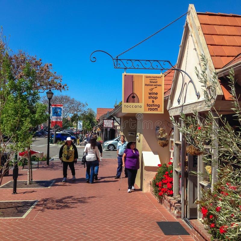 Deense stad van Solvang in Santa Ynes, Californië De V.S. De lente van 2015 royalty-vrije stock afbeelding