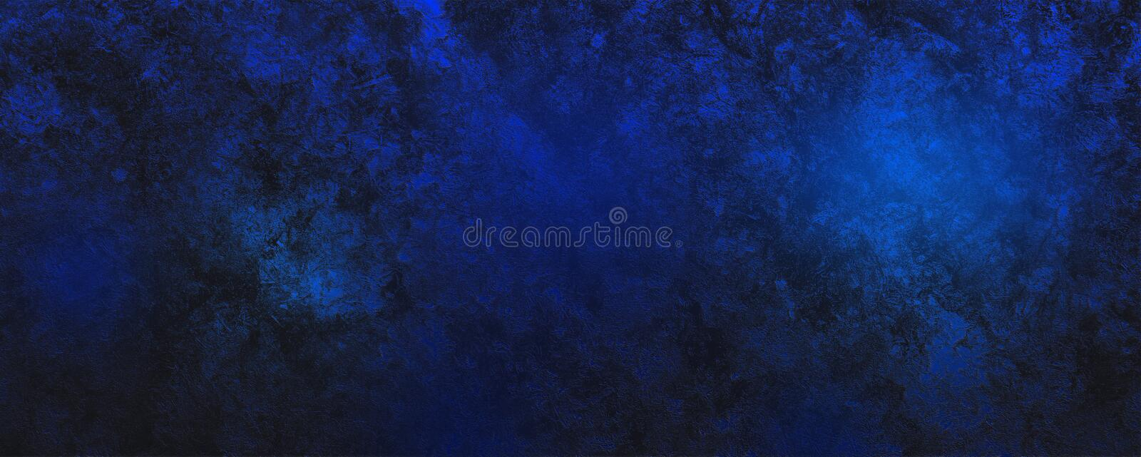 Deep blue and black abstract dreamlike fantasy background stock images