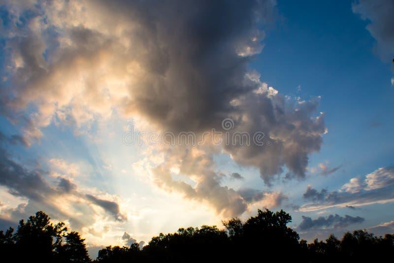 Beautiful sunrise over rural Illinois royalty free stock photo