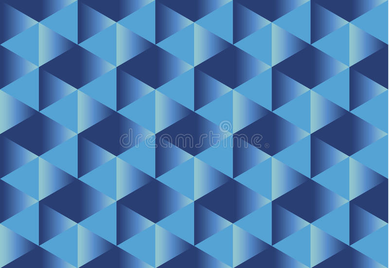 Deep blue paper illusion seamless pattern vector illustration