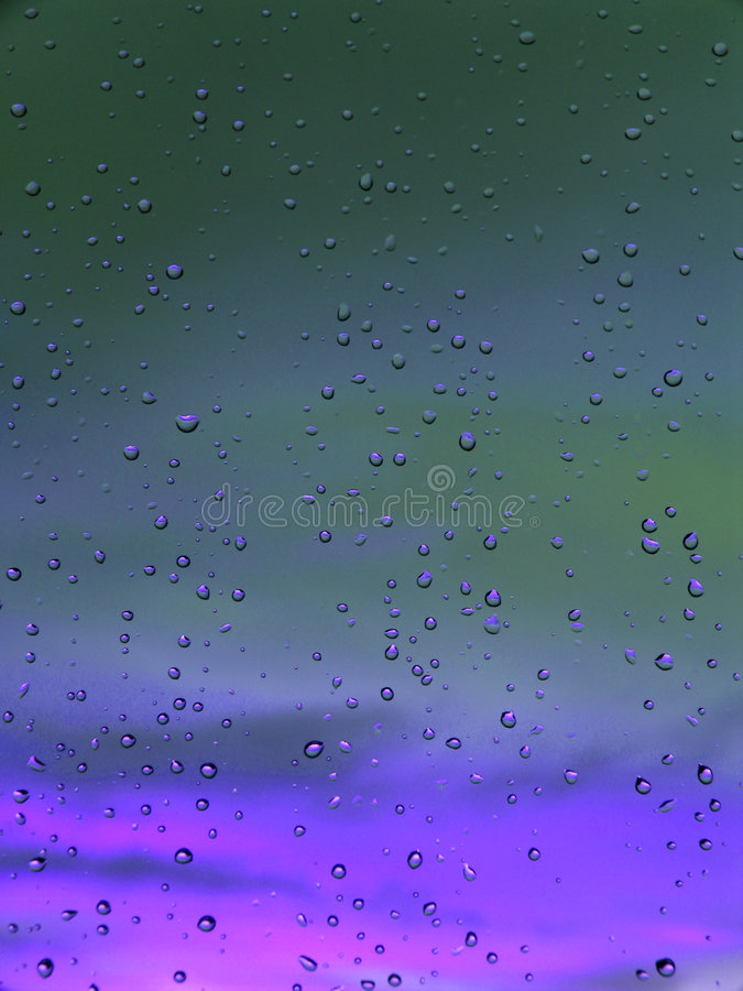 Deep blue/purple droplets abstract stock image