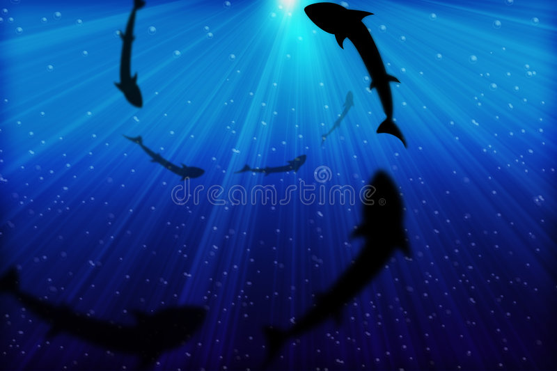 Download Deep Blue Sea stock illustration. Illustration of moon - 3379577