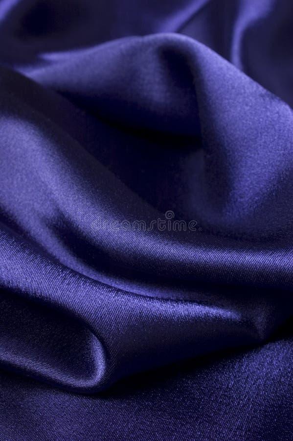 Deep blue silk cloth detail royalty free stock photography