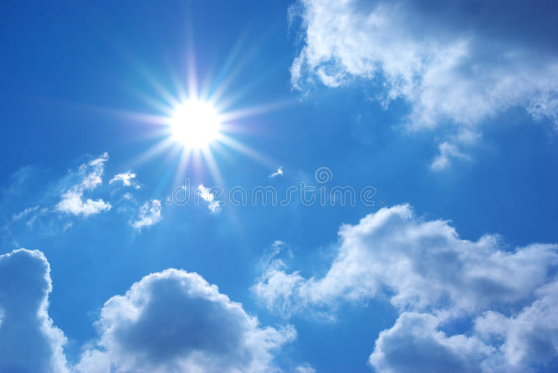 Deep blue sky stock images