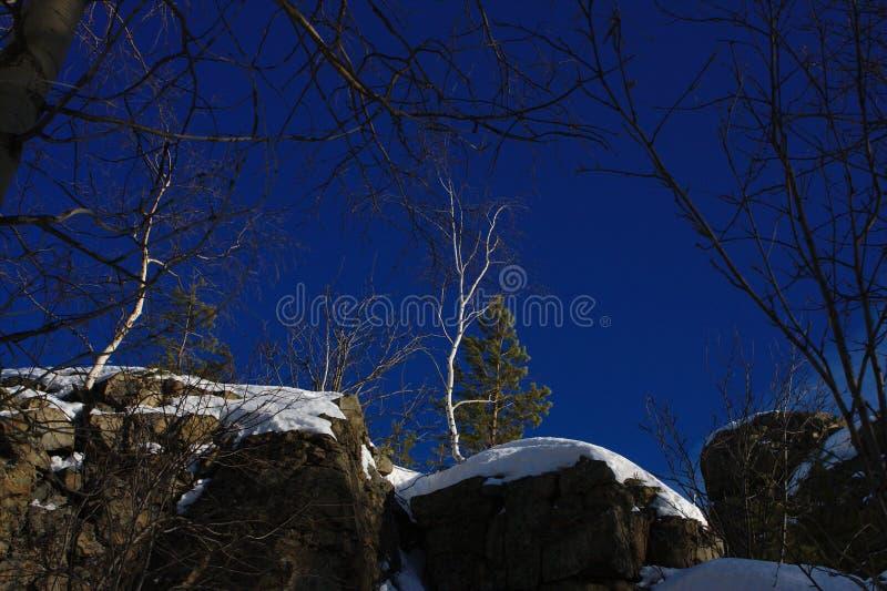 The deep blue sky royalty free stock photo
