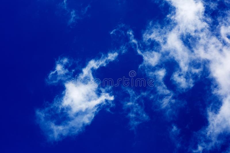 Deep blue sky with clouds high quality fifty megapixels royalty free stock photo