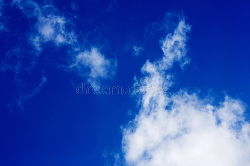 Deep blue sky with clouds high quality fifty megapixels royalty free stock photography