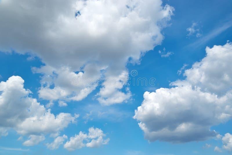 Deep blue sky stock photography