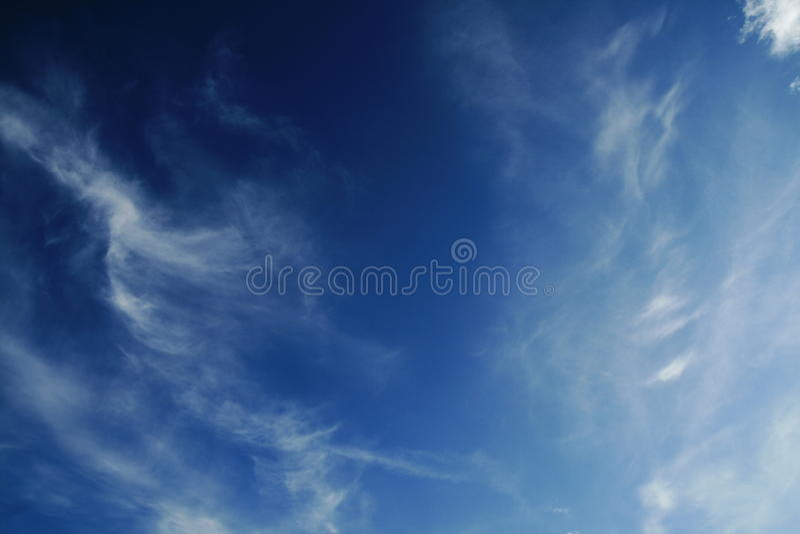 Deep blue sky stock image