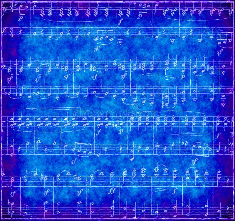 Dark blue Grunge Music Background royalty free stock photo