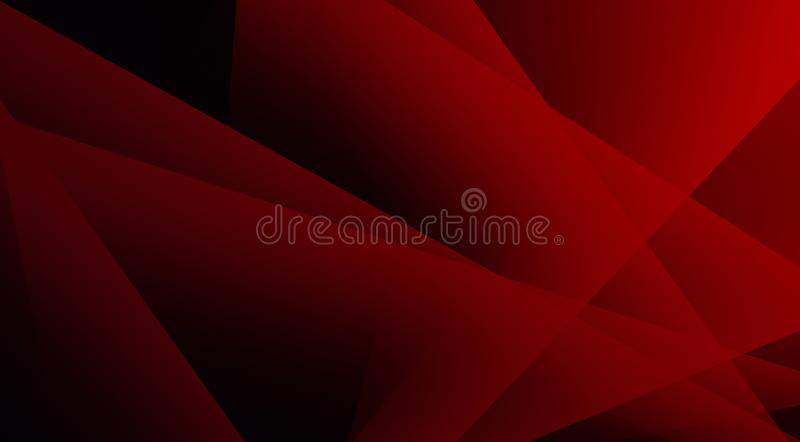 Deep bright red colored transparent triangles design soft and peaceful background. Useful for website design stock photography