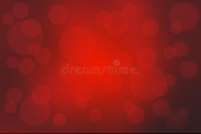 Deep burgundy red abstract with bokeh lights blurred background stock illustration