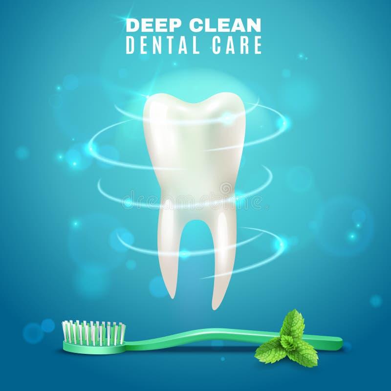Deep Cleaning Dental Care Background Poster vector illustration