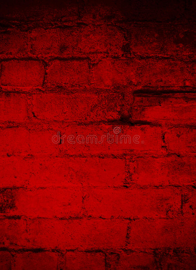 Deep Dark Red Brick Grunge Background royalty free stock images
