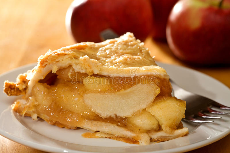 Deep Dish Apple Pie royalty free stock photography