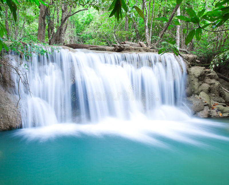 Download Deep forest waterfall stock image. Image of cool, heaven - 28569315